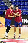 Turkish Airlines Euroleague 2020/2021. <br /> Regular Season-Round 10.<br /> FC Barcelona vs Crvena Zvezda MTS Belgrade: 76-65.<br /> Nikola Mirotic & Leandro Bolmaro.