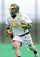 14 April 2007: University of Vermont Catamounts' Sean Layton, a Senior from Wilmington, MA, in action against the University of Albany Great Danes at Moulton Winder Field, in Burlington, Vermont. The Great Danes defeated the Catamounts 14-7...Mandatory Photo Credit: Ed Wolfstein Photo