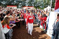 15-09-12, Netherlands, Amsterdam, Tennis, Daviscup Netherlands-Suisse, Federer entering the stadium