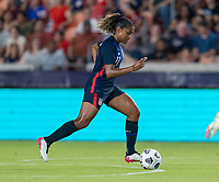 HOUSTON, TX - JUNE 13: Catarina Macario #11 of the USWNT dribbles during a game between Jamaica and USWNT at BBVA Stadium on June 13, 2021 in Houston, Texas.