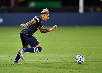 LAKE BUENA VISTA, FL - JULY 26: Ronald Matarrita of New York City FC runs with the ball during a game between New York City FC and Toronto FC at ESPN Wide World of Sports on July 26, 2020 in Lake Buena Vista, Florida.
