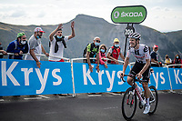 Cees Bol (NED/Sunweb) is one of the last ones up the Puy Mary (uphill finish)<br /> <br /> Stage 13 from Châtel-Guyon to Pas de Peyrol (Le Puy Mary) (192km)<br /> <br /> 107th Tour de France 2020 (2.UWT)<br /> (the 'postponed edition' held in september)<br /> <br /> ©kramon
