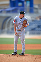 Jackson Generals starting pitcher Taylor Clarke (36) looks in for the sign during a game against the Biloxi Shuckers on April 23, 2017 at MGM Park in Biloxi, Mississippi.  Biloxi defeated Jackson 3-2.  (Mike Janes/Four Seam Images)