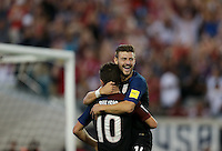 Jacksonville, FL - September 6, 2016: The U.S. Men's National team go up 4-0 over Trinidad & Tobago with Christian Pulisic contributing an assist and Paul Arriola a goal during a World Cup Qualifier (WCQ) match at EverBank Field.