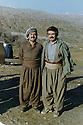 Iraq 1995?  .Near Sergalou, left, Sheikh Abdel Kerim Shadala, right, Kosrat Rasul.Irak 1995?.Pres de Sergalou, a gauche, Sheikh Abdel Kerim Shadala, a droite, Kosrat Rasul