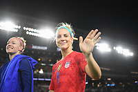 Saint Paul, MN - SEPTEMBER 03: Julie Ertz #8 of the United States celebrates during their 2019 Victory Tour match versus Portugal at Allianz Field, on September 03, 2019 in Saint Paul, Minnesota.