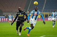 inter-napoli - milano 16 dicembre 2020 - Campionato Serie A 12° giornata - nella foto: lukaku e Koulibaly