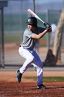 Cole Newman (47), from Kuna, Idaho, while playing for the Indians during the Under Armour Baseball Factory Recruiting Classic at Red Mountain Baseball Complex on December 29, 2017 in Mesa, Arizona. (Zachary Lucy/Four Seam Images)