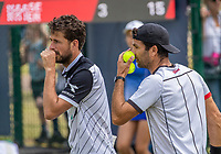 Rosmalen, Netherlands, 11 June, 2019, Tennis, Libema Open, Mens doubles Robin Haase (NED) and Jean Julien Rojer (NED) (R)<br /> Photo: Henk Koster/tennisimages.com