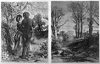 Girl is found murdered by her lover in Eltham Woods Kent ; before & after / Illustration in 'The Day's Doings' 13th May 1871 Vol II page 249 / 1871