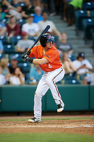 Richmond Flying Squirrels shortstop Ryan Howard (8) at bat during a game against the Trenton Thunder on May 11, 2018 at The Diamond in Richmond, Virginia.  Richmond defeated Trenton 6-1.  (Mike Janes/Four Seam Images)