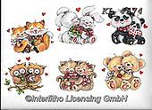 Interlitho-Theresa, VALENTINE, VALENTIN, paintings+++++,animals,KL4574,#v#, EVERYDAY ,sticker,stickers ,bear,bears