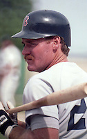 Boston Red Sox infielder Wade Boggs (26) during a spring training game circa 1988.  (MJA/Four Seam Images)