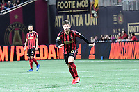 ATLANTA, GA - MARCH 07: ATLANTA, GA - MARCH 07: Atlanta United midfielder Matheus Rossetto tracks the ball during the match against FC Cincinnati, which Atlanta won, 2-1, in front of a crowd of 69,301 at Mercedes-Benz Stadium during a game between FC Cincinnati and Atlanta United FC at Mercedes-Benz Stadium on March 07, 2020 in Atlanta, Georgia.
