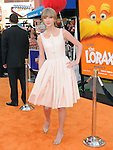 "Taylor Swift at Universal Pictures' Dr. Suess' ""The Lorax"" L.A. Premiere held at The Universal City Walk Theatre in Universal, California on February 19,2012                                                                               © 2012 Hollywood Press Agency"
