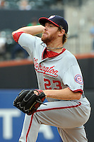 Washington Nationals pitcher Collin Balester #23 during a game against the New York Mets at Citi Field on September 15, 2011 in Queens, NY.  Nationals defeated Mets11-1.  Tomasso DeRosa/Four Seam Images