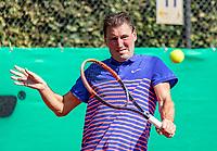 Hilversum, The Netherlands, September 2, 2018,  Tulip Tennis Center, NKS, National Championships Seniors, Men's 45+ final: Robert Scholtes (NED) <br /> Photo: Tennisimages/Henk Koster