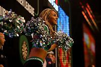 25th May 2021; Marshall Arena, Milton Keynes, Buckinghamshire, England; Professional Darts Corporation, Unibet Premier League Night 14 Milton Keynes; Cheerleaders dance during the players walk out