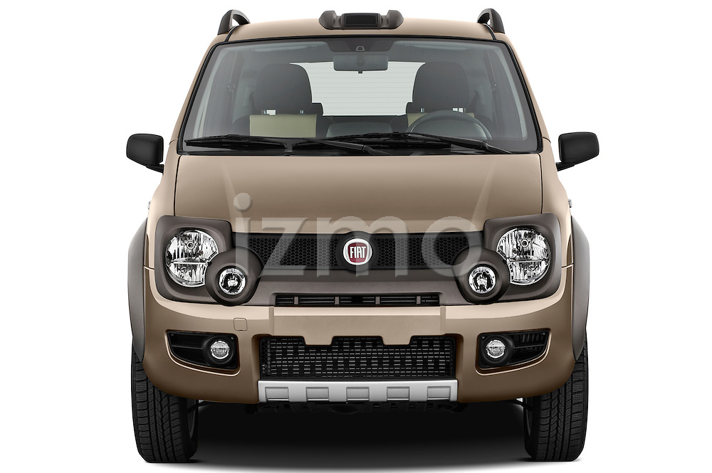 Straight front view of a 2009 Fiat Panda 5 Door 4x4