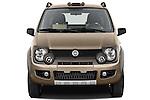 Straight front view of a 2009 Fiat Panda 5 Door 4x4