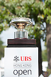 The trophy stands at UBS Hong Kong Open golf tournament at the Fanling golf course on 25 October 2015 in Hong Kong, China. Photo by Xaume Olleros / Power Sport Images
