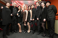 March 17,  2013 File Photo -Robin-Joel Cool (L), Viviane Audet (M),Eric West-Millette (R)<br /> attend the 2013 Jutras Gala