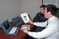 The computer system that allows a police operator to compile an E-fit picture and a print out being shown to a witness. This image may only be used to portray the subject in a positive manner..©shoutpictures.com..john@shoutpictures.com