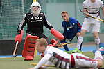 GER - Mannheim, Germany, October 22: During the women hockey match between Mannheimer HC (blue) and Rot-Weiss Koeln (white) on October 22, 2016 at Mannheimer HC in Mannheim, Germany. Final score 2-5 (HT 2-4). (Photo by Dirk Markgraf / www.265-images.com) *** Local caption ***