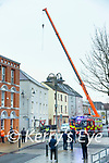 Emergency services at the scene of a fatal accident at a building site in Ashe Street, Tralee on Saturday.
