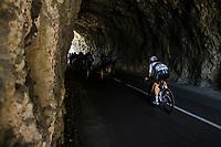 breakaway group with World Champion Alaphilippe (FRA/Deceuninck-Quick Step) rolling through the spectacular Gorges de l'Ardèche <br /> <br /> Stage 12 from Saint-Paul-Trois-Châteaux to Nîmes (159.4km),<br /> 108th Tour de France 2021 (2.UWT)<br /> <br /> ©kramon