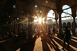 Muslim worshippers attend Eid al-Fitr prayer to mark the end of the holy fasting month of Ramadan, inside Amr ibn al-Aas mosque, amid the coronavirus disease (COVID-19) pandemic, in old Cairo, Egypt May 13, 2021. Photo by Fadel Dawod