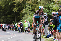 Alexis Vuillermoz (FRA/AG2R La Mondiale) up the Col de Marie Blanque<br /> <br /> <br /> Stage 9 from Pau to Laruns 153km<br /> 107th Tour de France 2020 (2.UWT)<br /> (the 'postponed edition' held in september)<br /> ©kramon
