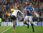 Rangers v St Johnstone...22.09.15  Scottish League Cup Round 3, Ibrox Stadium<br /> Steven MacLean and Lee Wallace<br /> Picture by Graeme Hart.<br /> Copyright Perthshire Picture Agency<br /> Tel: 01738 623350  Mobile: 07990 594431