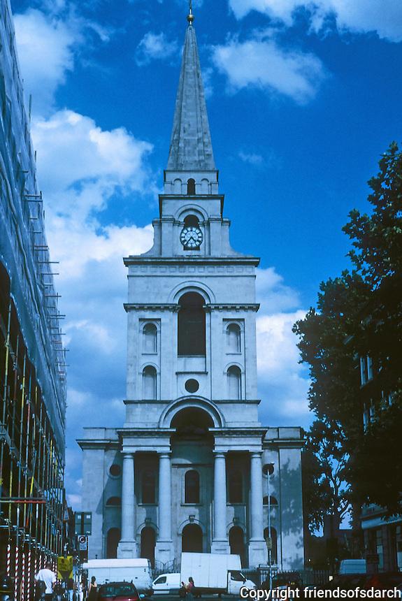 Nicholas Hawksmoor: Christ Church, Spitafields. Elevation. Photo '05.