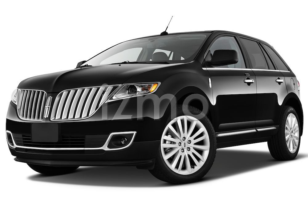 Low aggressive front three quarter view of a 2011 Lincoln MKX.
