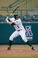 Dartmouth Big Green center fielder Nick Ruppert (1) at bat during a game against the South Florida Bulls on March 27, 2016 at USF Baseball Stadium in Tampa, Florida.  South Florida defeated Dartmouth 4-0.  (Mike Janes/Four Seam Images)