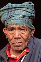 Pashupatinath, Nepal.  Nepali Man Visiting Nepal's Holiest Hindu Temple.