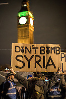 """01.12.2015 - """"Don't Bomb Syria"""" - Emergency Protest in Parliament Square"""
