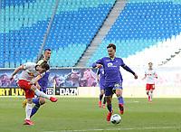 16th May 2020, Red Bull Arena, Leipzig, Germany; Bundesliga football, Leipzig versus FC Freiburg; Marcel Sabitzer RBL in action against Robin Koch  SCF