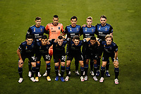 SAN JOSE, CA - SEPTEMBER 13: San Jose Earthquakes  Starting Eleven before a game between Los Angeles Galaxy and San Jose Earthquakes at Earthquakes Stadium on September 13, 2020 in San Jose, California.