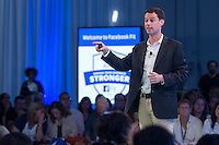 "FACEBOOK'S DIRECTOR OF SMALL BUSINESS, DAN LEVY, SPEAKS TO A SOLD-OUT CROWD OF LOCAL SMALL BUSINESSES AT THE FIRST-EVER FACEBOOK FIT MIAMI seen at Facebook Fit ""Small Business Boot Camp"" at Soho Studios, on Thurs., June 19, 2014 in Miami. (Photo by Marc Serota/Invision for Facebook/AP Images)"