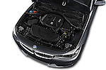 Car Stock 2018 BMW 3-Series 330i-Gran-Turismo 5 Door Hatchback Engine  high angle detail view
