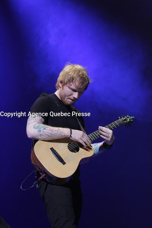 Ed Sheeran en 2015<br /> <br /> PHOTO : Pierre Roussel -  Agence Quebec Presse