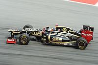 Finnish Kimi Raikkonen on Lotus E20 .24/03/2012 Grand Prix Malesia, Sepang , Essais..Foto Insidefoto  /Bernard Asset / Panoramic.ITALY ONLY..