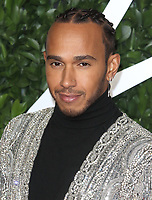 File photo of Lewis Hamilton who has been awarded a Knighthood in the New Year's Honours List.<br /> The Fashion Awards, Royal Albert Hall, London on Monday December 2nd 2019<br /> <br /> Photo by Keith Mayhew