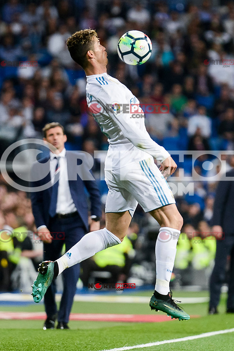 Real Madrid Cristiano Ronaldo during La Liga match between Real Madrid and Athletic Club at Santiago Bernabeu Stadium in Madrid. April 19, 2017. (ALTERPHOTOS/Borja B.Hojas) /NortePhoto.com