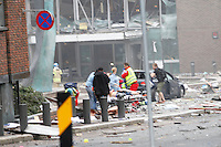 (Oslo July 22, 2011) A powreful explosion rippet through government buildings in central Oslo, Norway, killing many people and injuring more. The presumed terrorist attack was followed by another attack in a separate part of Norway. (photo: Fredrik Naumann/Felix Features)