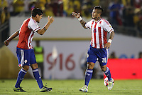 Pasadena, CA - Tuesday June 07, 2016: Paraguay defender Victor Ayala (20) during a Copa America Centenario Group A match between Colombia (COL) and Paraguay (PAR) at Rose Bowl Stadium.