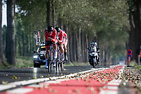 Womens Team Austria<br /> <br /> Mixed Relay TTT <br /> Team Time Trial from Knokke-Heist to Bruges (44.5km)<br /> <br /> UCI Road World Championships - Flanders Belgium 2021<br /> <br /> ©kramon