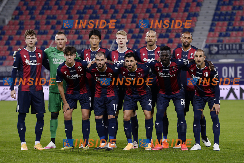 Bologna team line up during the Serie A football match between Bologna FC and Parma Calcio 1913 at stadio Renato Dall Ara in Bologna (Italy), September 28th, 2020. Photo Image Sport / Insidefoto